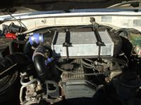 Préparation moteur d'un HZJ 78 : montage d'un turbo et d'un intercooler.